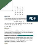 statistics project 1351