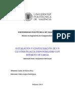 INSTALACIÓN Y CONFIGURACIÓN DE UN CLUSTER DE ALTA DISPONIBILIDAD CON REPARTO DE CARGA