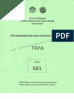 Sbmptn 2014 Tkpa 681