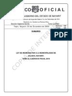 Ley de Ingresos Xalisco 2010