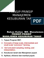 Prinsip Management Kesuburan Tanah