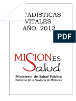 Estadisticas de Salud 2012 Misiones