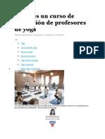 Cómo Es Un Curso de Formación de Profesores de Yoga
