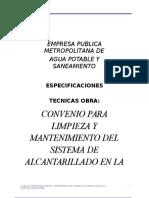 Especificaciones Tecnicas - Limpieza Alcantarillado - Chavezpamba.doc