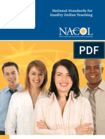 NACOL Standards Quality Online Teaching