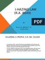 Anti Hazing Law Report
