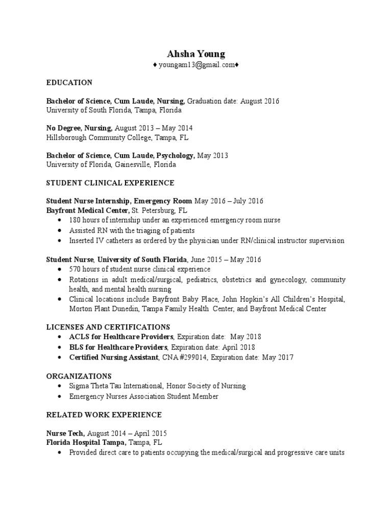 Resume 2016 Ix Nursing Health Professional