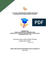 Instructivo Metodologia y Anteproyecto de TEG