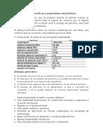 Características y Propiedades Del Polímero