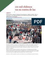 La Pagina - Más de 100 Mil Chilenos Marcharon en Contra de Las AFP - 25 07 2016