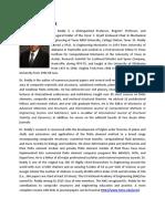 CV of Prof J N Reddy