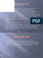 Artículos 1 Al 11 de La Constitución Mexicana
