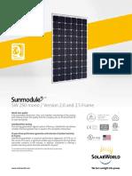 Sunmodule Solar Panel 250 Mono Ds