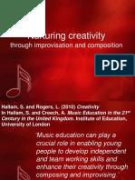 Nurturing Creativity Through Improvisation and Composition