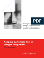 BAIN BRIEF Keeping Customers First in Merger Integration