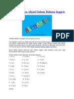 1. Alphabets