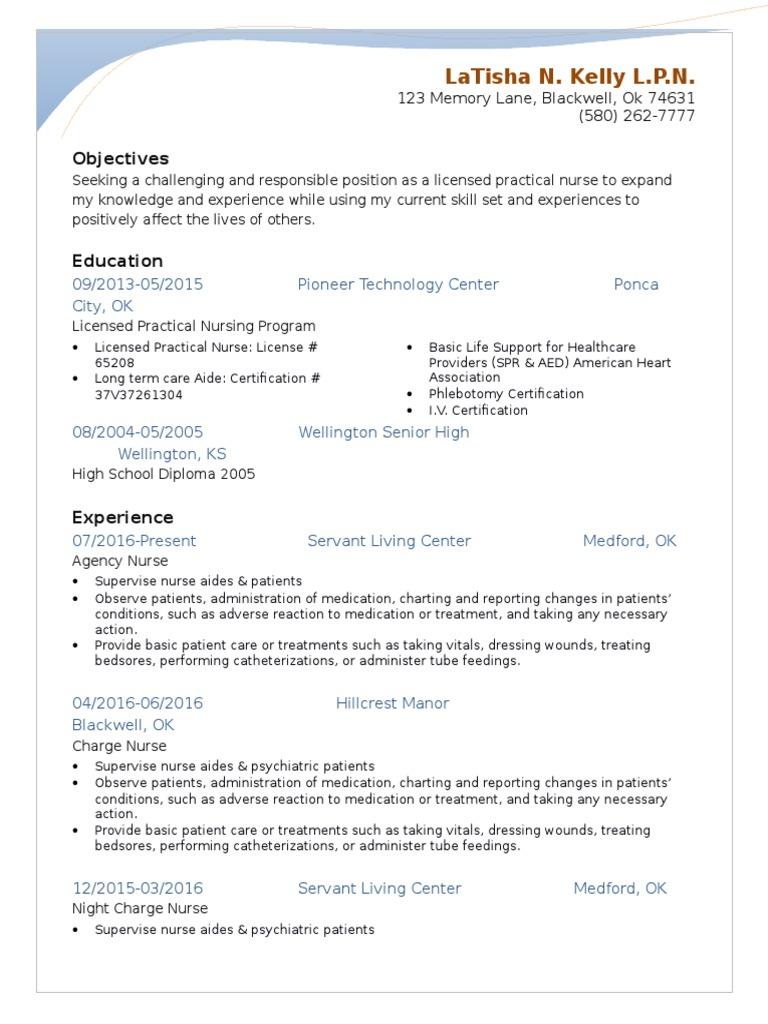 Latisha kelly resume assignment nursing health care 1betcityfo Images