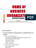 FORMS OF BUSINESS ORGANIZATION - CHAPTER 1
