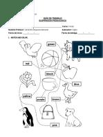 Guía de Suspensión Pedagógica Kinder (Inglés 2014)