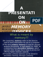 Memory Devices Jayjeet