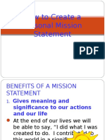 Mission Statement Notes