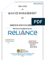 Service Encyclopedia of Reliance Communication