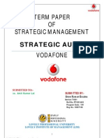 Strategic Audit of Vodafone