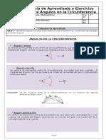 Guía de Circunferencias Angulos
