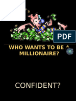 Who Wants to Be a Millionaire Past Simple