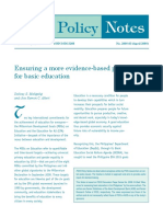 PIDS Policy Note on Education Statistics