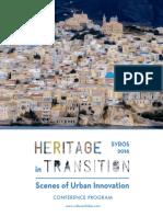 Heritage in Transition | 4ο Ετήσιο Συνέδριο της IASCC στην Σύρο (27-29/7/2016) | Πρόγραμμα