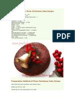 Plum Christmas Cake Recipe