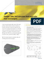 Design, rate, and simulate shell-and-tube heat exchangers