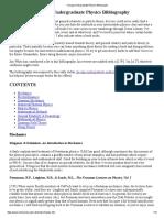 Chicago Undergraduate Physics Bibliography