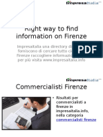 Right Way to Find Information on Firenze