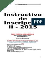 Katiuska Quero Instructivo de Inscripcion II 2015 II Cohorte[1]