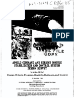 Apollo Command and Service Module Stabilization and Control System Design Survey