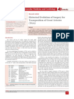 Historical Evolution of Surgery for Transposition of Great Arteries (TGA)