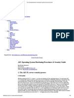 AIX Operating System Hardening Procedures & Security Guide