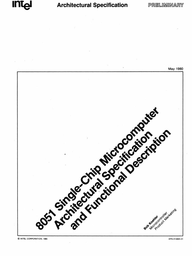 8051 Microcomputer Preliminary Architectural Specification