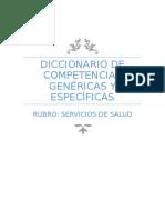Diccionario de Competencias Genericas y Especificas