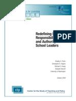 Redefining Roles Responsibilities
