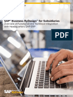 Sap Business Bydesign for Subsidiaries Overview of Functional and Technical Integration With Headquarters Sap Erp