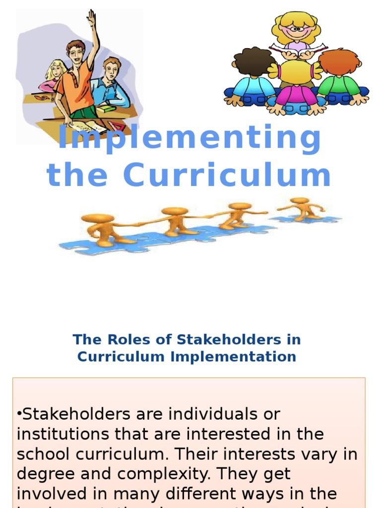 stakeholders in school curriculum