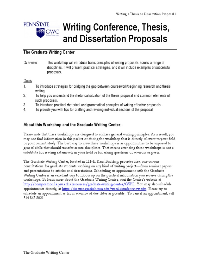 examples of dissertation proposals