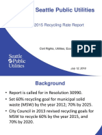 2015 Recycling Rate Report