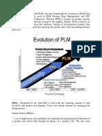 Evolution of PLM