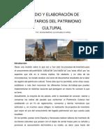 Estudio y Elaboración de Inventarios Del Patrimonio Cultural