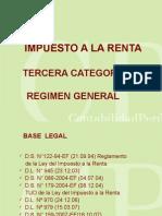 Impuesto a La Renta Tercera Categoria Regimen General