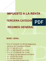Impuesto a La Renta Tercera Categoria Regimen General